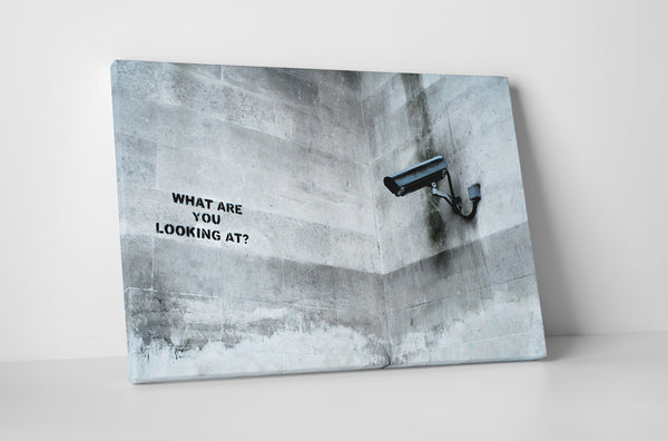 Banksy What Are You Looking At? Canvas Wall Art