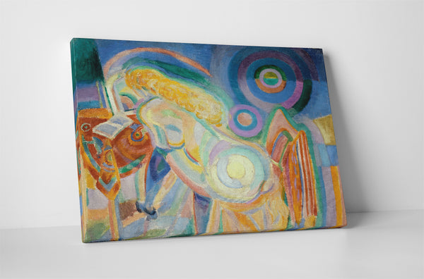 Robert Delaunay Nude Woman Reading Canvas Wall Art