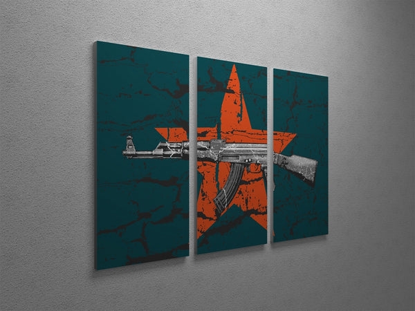 AK-47 Canvas Wall Art