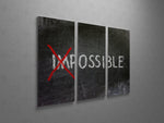 Impossible Triptych Canvas Wall Art