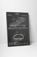Hockey Skate Patent Canvas Wall Art