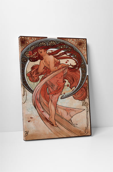 Vintage Ad Poster Alphonse Mucha Dance Canvas Wall Art