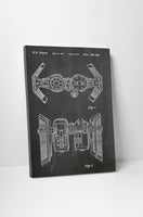 Star Wars Imperial Bomber Patent Canvas Wall Art