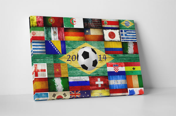 World Cup 2014 Collage of Vintage Country Flags