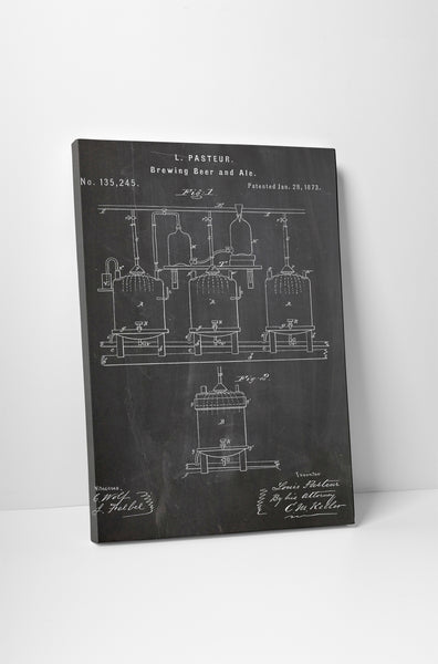 Beer Brewing Patent Print Canvas Wall Art