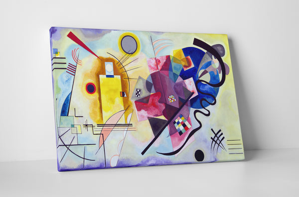 Wassily Kandinsky Jaune Rouge Bleu Canvas Wall Art