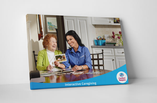 Comfort Keepers Scrapbooking Canvas Wall Art