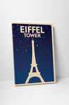 Eiffel Tower Vintage Travel Ad Canvas Wall Art