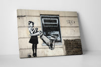 Banksy ATM Girl Stretched Canvas Wall Art