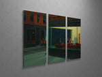 Edward Hopper Nighthawks Triptych Canvas Wall Art