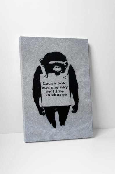 Banksy Laugh Now Canvas Wall Art