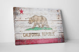 Vintage Republic Of California Flag Canvas Wall Art