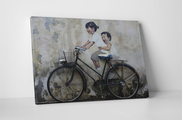 Ernest Zacharevic - Children On Bicycle