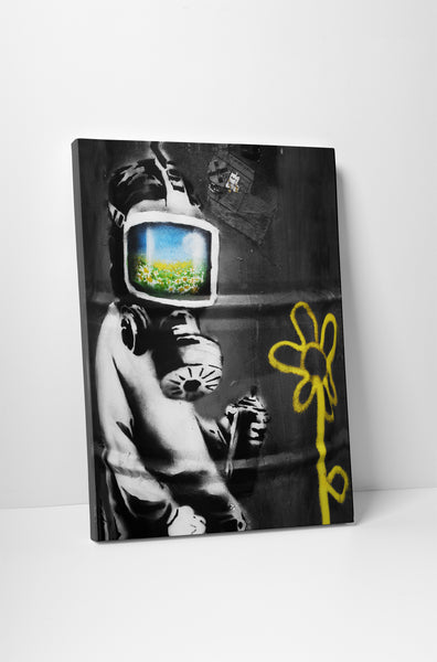 Banksy - Gas Mask Girl
