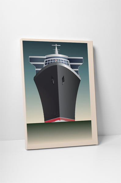 Cruise Ship Travel Vintage Poster Canvas Wall Art