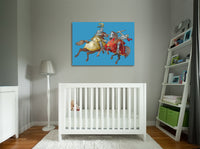 Knights Joust Canvas Wall Art