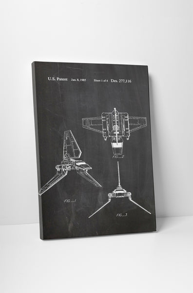 Star Wars Imperial Shuttle Patent Canvas Wall Art