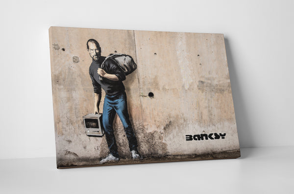 Banksy Steve Jobs Canvas Wall Art