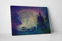 Magic Castle and Carriage Canvas Wall Art