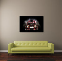 Red Hot Rod Canvas Wall Art
