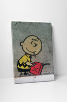 Banksy Charlie Brown With Gasoline Stretched Canvas Wall Art