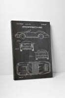 Porsche 911 Patent Canvas Wall Art