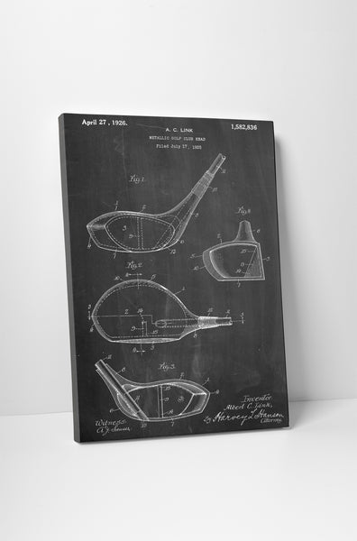 Golf Driver Patent Canvas Wall Art