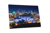 Kansas City Union Station at Night Skyline Canvas Wall Art