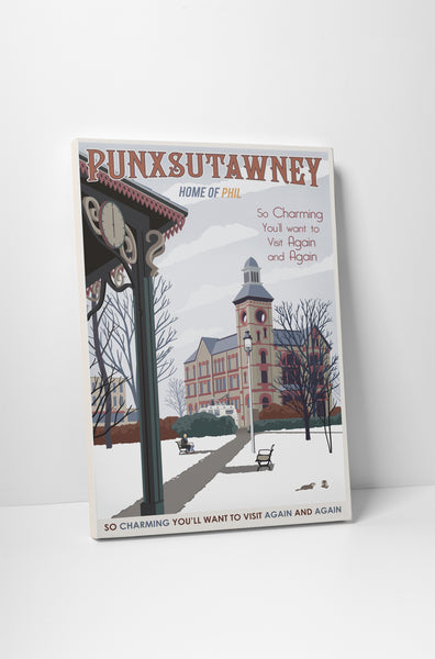 Steve Thomas Punxsutawney Canvas Wall Art