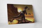 Dinosaurs T-Rex II Canvas Wall Art
