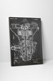 Car Transmission Patent Canvas Wall Art