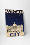 Vatican City Vintage Travel Poster Canvas Wall Art