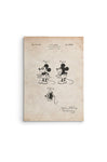 Mickey Mouse Patent Canvas Wall Art