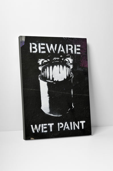 Banksy - Wet Paint Stretched Canvas