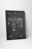 Colt 911 Hand Gun Patent Print Canvas Wall Art