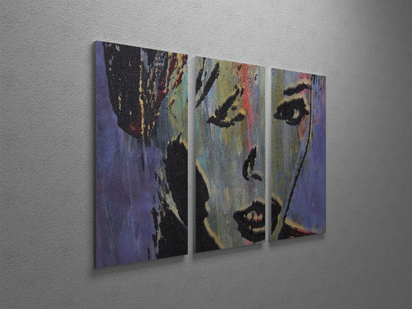 Woman's Face Canvas Wall Art