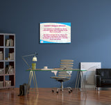 Comfort Keepers Mission Statement Canvas Wall Art