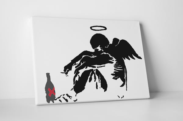 Banksy Drunken Angel Canvas Wall Art