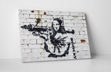 Banksy - Mona Lisa With Bazooka