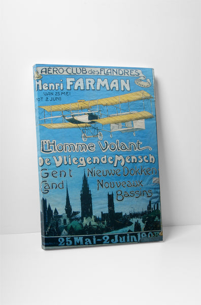 Vintage Ad Poster Aero Club Canvas Wall Art