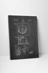 Fireman Helmet Patent Canvas Wall Art