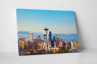 Seattle Daytime Downtown Skyline Canvas Wall Art