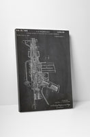 M16 Automatic Rifle Patent Canvas Wall Art