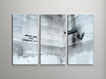 Banksy What Are You Looking At Triptych Canvas Wall Art