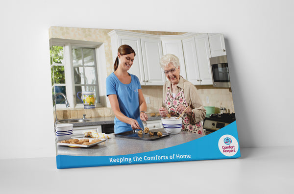 Comfort Keepers Baking Cookies Canvas Wall Art