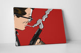 Man With Smoking Gun Canvas Wall Art