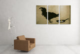 Banksy Chicken and The Egg Triptych Canvas Wall Art