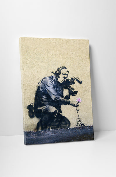 Banksy - Camera Man and Flower