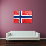 Vintage Norway Flag