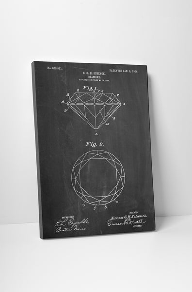 Diamond Patent Canvas Wall Art
